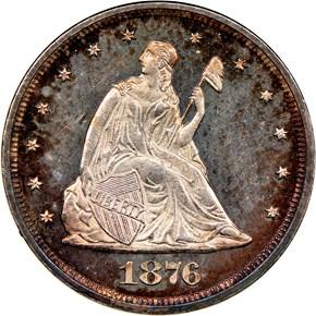 1876 20C PF obverse