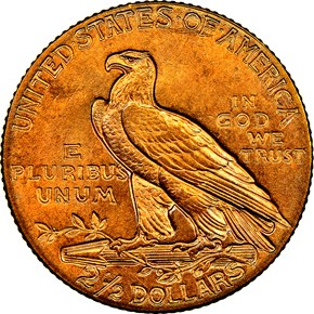 1908 $2.5 MS reverse