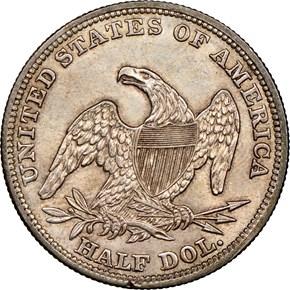 1838 50C MS reverse