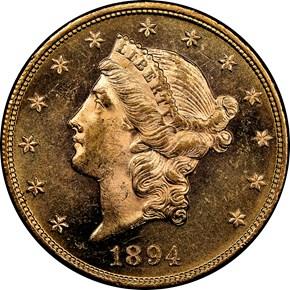 1894 $20 MS obverse