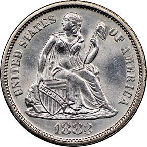 1883 10C MS obverse