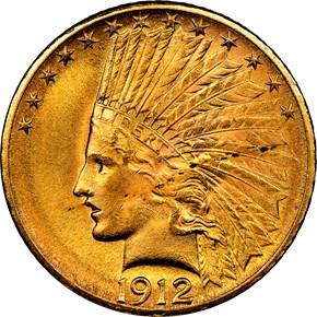 1912 $10 MS obverse