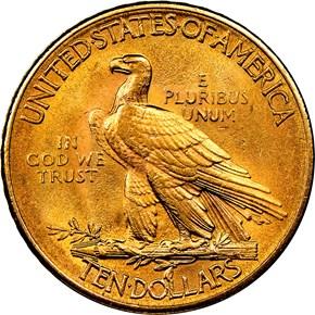 1912 $10 MS reverse