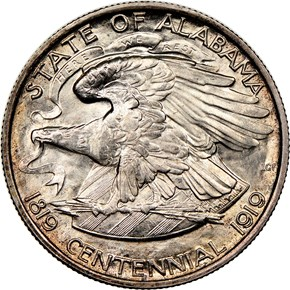 1921 2X2 ALABAMA 50C MS reverse