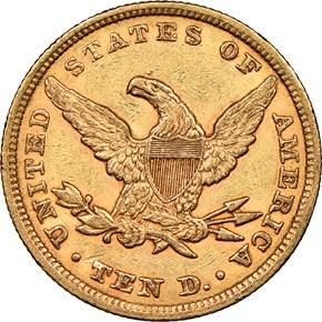 1853/'2' $10 MS reverse