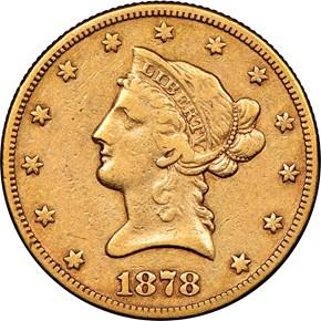 1878 CC $10 MS obverse