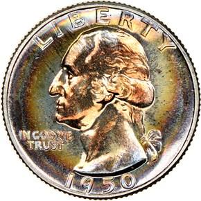 1950 25C PF obverse