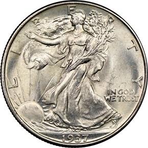 1937 50C MS obverse