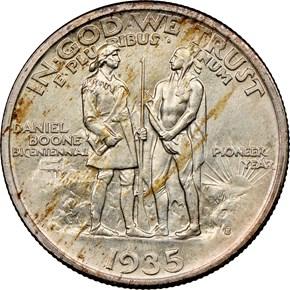 1935 S BOONE 50C MS reverse