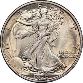 1935 50C MS obverse