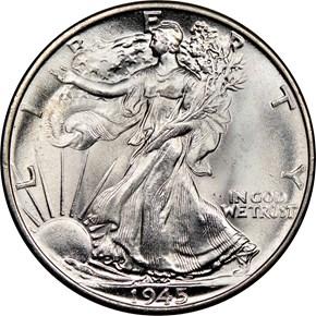 1945 50C MS obverse