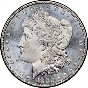 1880 $1 MS obverse
