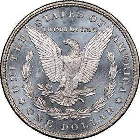 1880 $1 MS reverse