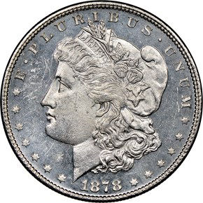 1878 7/8TF WEAK $1 MS obverse