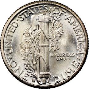 1928 S 10C MS reverse
