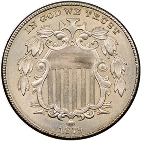 1879 5C MS obverse