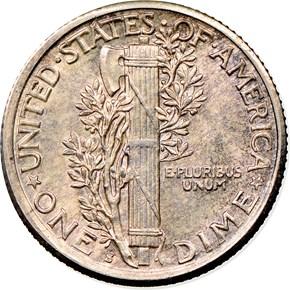 1919 S 10C MS reverse