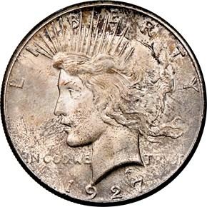 1927 $1 MS obverse