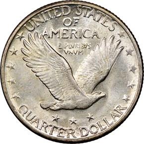 1926 D 25C MS reverse
