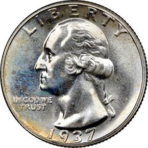 1937 25C PF obverse