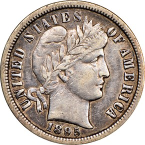 1895 O 10C MS obverse