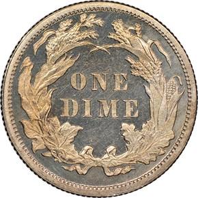 1877 10C PF reverse