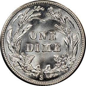 1915 S 10C MS reverse
