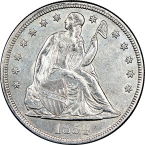 1854 $1 MS obverse