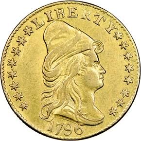 1796 STARS BD-3 $2.5 MS obverse