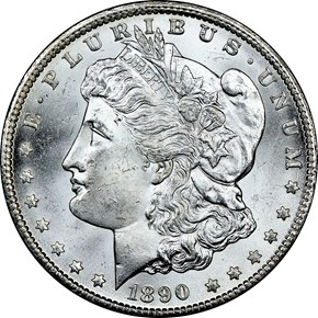 1890 CC $1 MS obverse