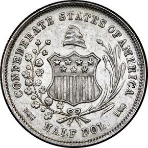 1861 CSA RESTRIKE B-8001 50C MS reverse