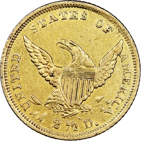1839 D $2.5 MS reverse
