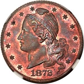1872 J-1241 $5 PF obverse