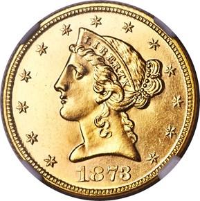 1873 CLOSED 3 $5 SP obverse
