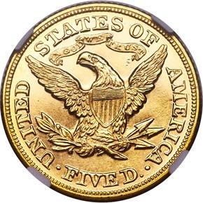 1873 CLOSED 3 $5 SP reverse