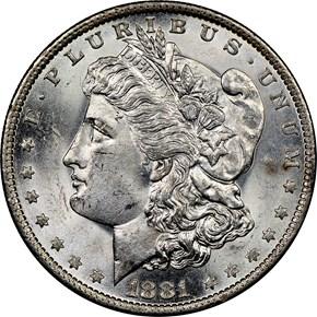 1881 O $1 MS obverse