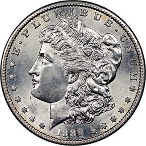1889 S $1 MS obverse