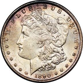 1890 $1 MS obverse