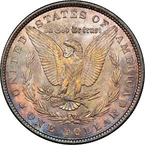 1890 $1 MS reverse