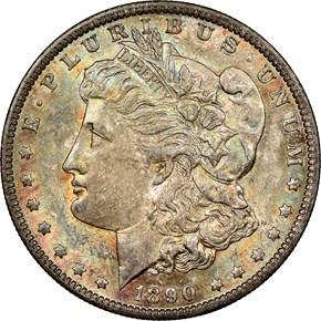 1890 O $1 MS obverse