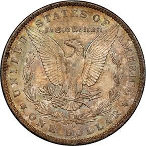 1890 O $1 MS reverse