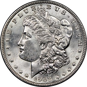 1903 $1 MS obverse