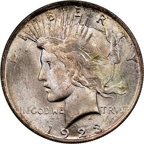 1923 $1 MS obverse