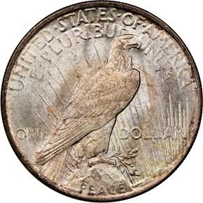1923 $1 MS reverse