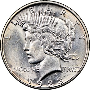 1923 D $1 MS obverse