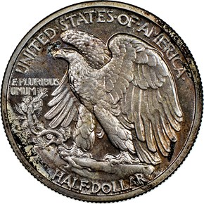 1942 50C PF reverse