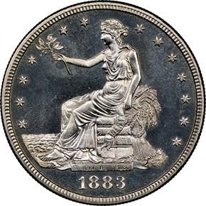 1883 T$1 PF obverse