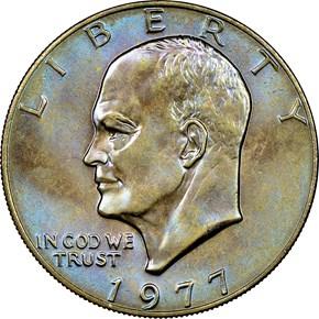 1977 $1 MS obverse