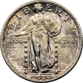 1924 25C MS obverse