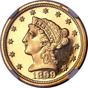 1899 $2.5 PF obverse